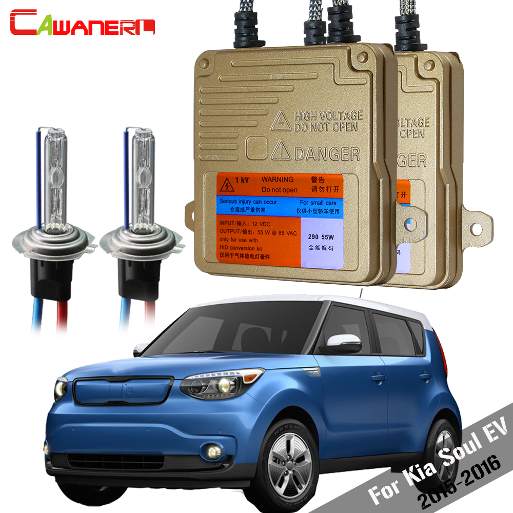 Cawanerl 55W H7 Auto HID Xenon Kit AC 3000K-8000K Canbus Ballast Lamp Car Light Headlight Low Beam For Kia Soul EV 2015-2016Cawanerl 55W H7 Auto HID Xenon Kit AC 3000K-8000K Canbus Ballast Lamp Car Light Headlight Low Beam For Kia Soul EV 2015-2016