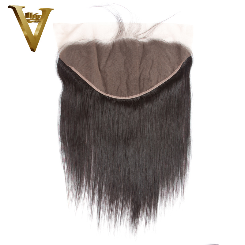 13x6 Lace Frontal Closure Indian Straight Virgin Hair Natural Hairline Free Part Swiss Lace Natural Color