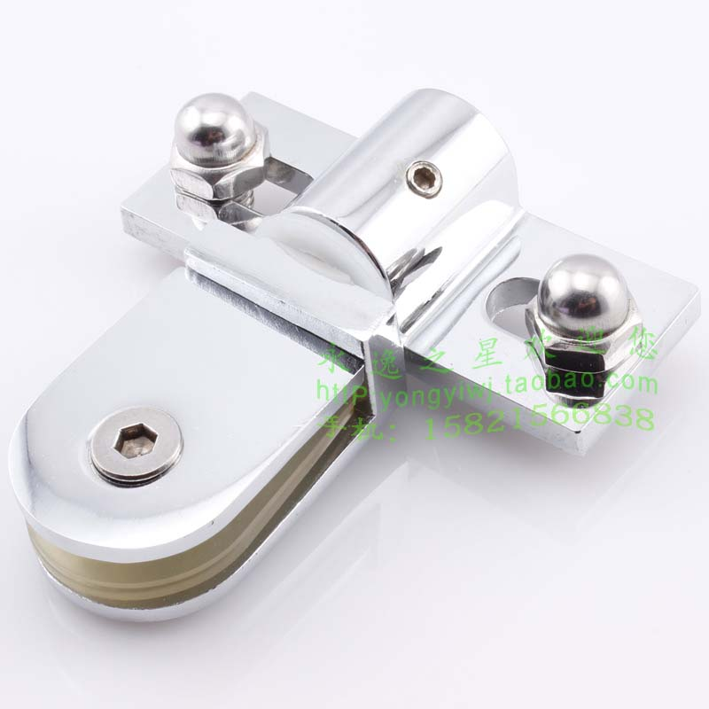 Wall door shower room accessories glass door shaft clip bathroom glass door clip rotating shaft clip