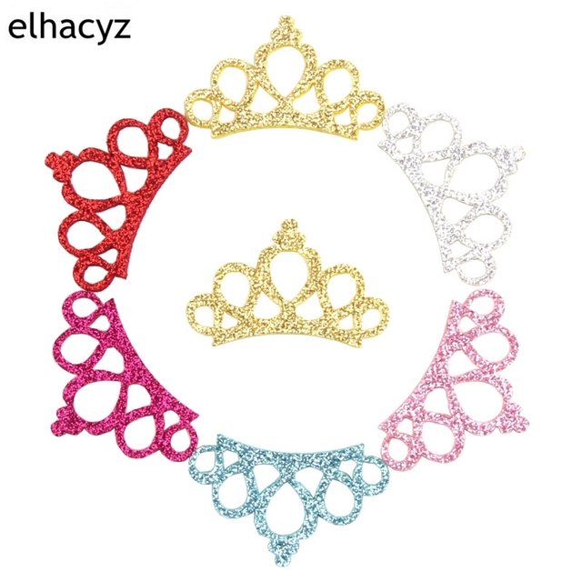 30pcs Lot 2018 New Pretty Glitter Felt Princess Handmade Diy Crown