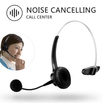 RJ11 telefoniczny zestaw słuchawkowy słuchawki słuchawki z redukcją szumów mikrofon z redukcją szumów dla telefonów stacjonarnych tanie i dobre opinie LEORY