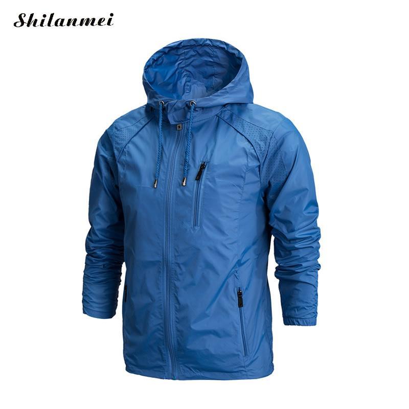 2019 Men Hiking Jacket Winter Camping Hiking Coat Quick Dry Thermal Skin Jackets Zipper Waterproof Outdoor Sports Coat Plus Size