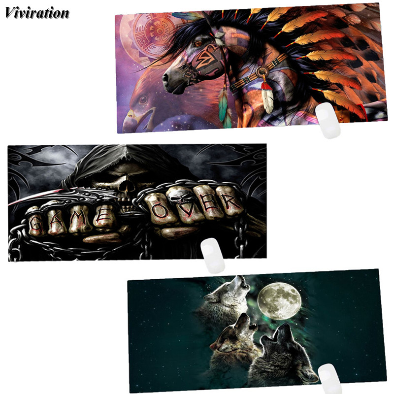 Viviration New Rubber XL Computer Desk Mat Mouse Keyboard Mat 900x400mm Large Gaming Mouse Pad For CSGO WOW Overwatch Lol Dota 2 100x50cm waterproof pu leather large gaming desk pad for lol csgo overwatch dota2 game player desktop keyboard mat mouse pad