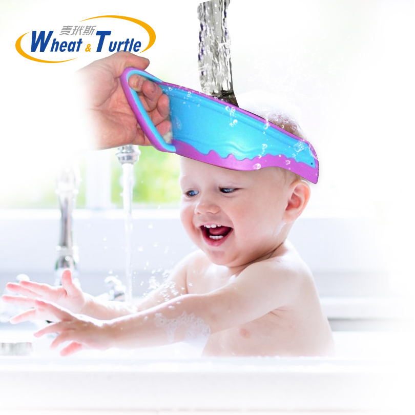 <font><b>Hair</b></font> <font><b>Wash</b></font> <font><b>Shampoo</b></font> Shield Waterproof Splashguard for Infant Children Baby <font><b>Kids</b></font> <font><b>Bath</b></font> Visor <font><b>Hat</b></font> Adjustable Baby <font><b>Shower</b></font> Protect <font><b>Cap</b></font> image