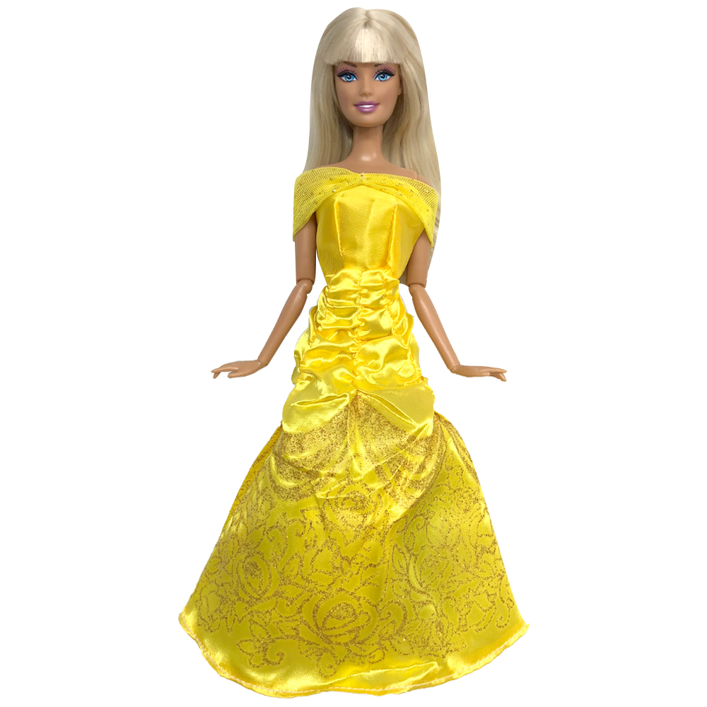 NK One Set Doll Dress Similar Fairy Tale Princess Belle Doll Wedding Dress  Gown Party Outfit For Barbie Doll Best Girls' Gift