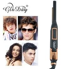 Professional Hair Straightener Curler Flat Iron Straighting Curling LCD Display