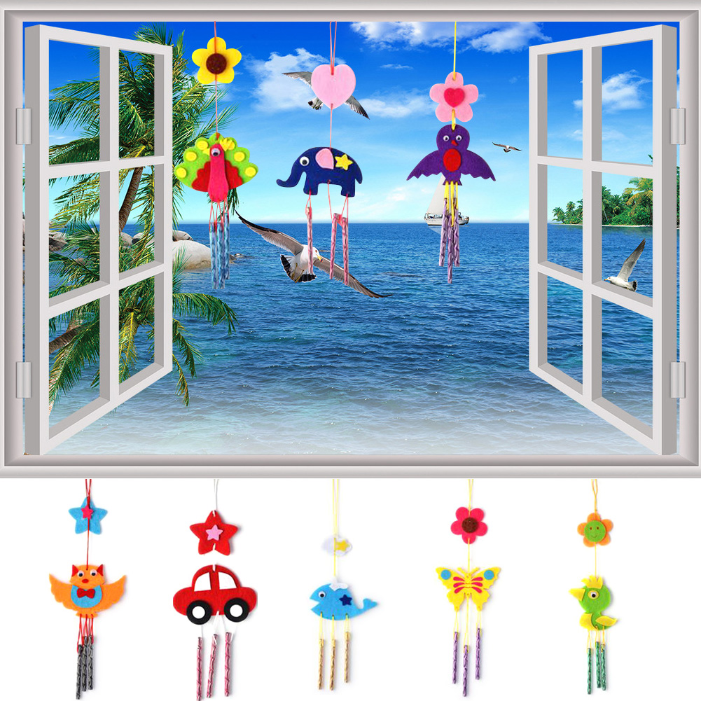 Puzzles Toys For Kids ChildREN  DIY Wind Chimes Aeolian Bells Educational Puzzle Toys Craft Kits AO#P puzzles