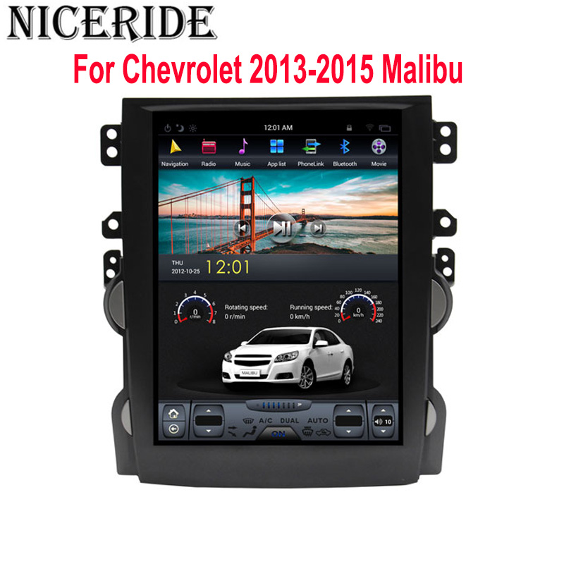 """Clearance Android 7.1 10.4"""" Tesla Vertical Touch Screen Gps Multimedia for Chevrolet Malibu 2010-2014 Video Radio Player In Dash Navigaton 0"""