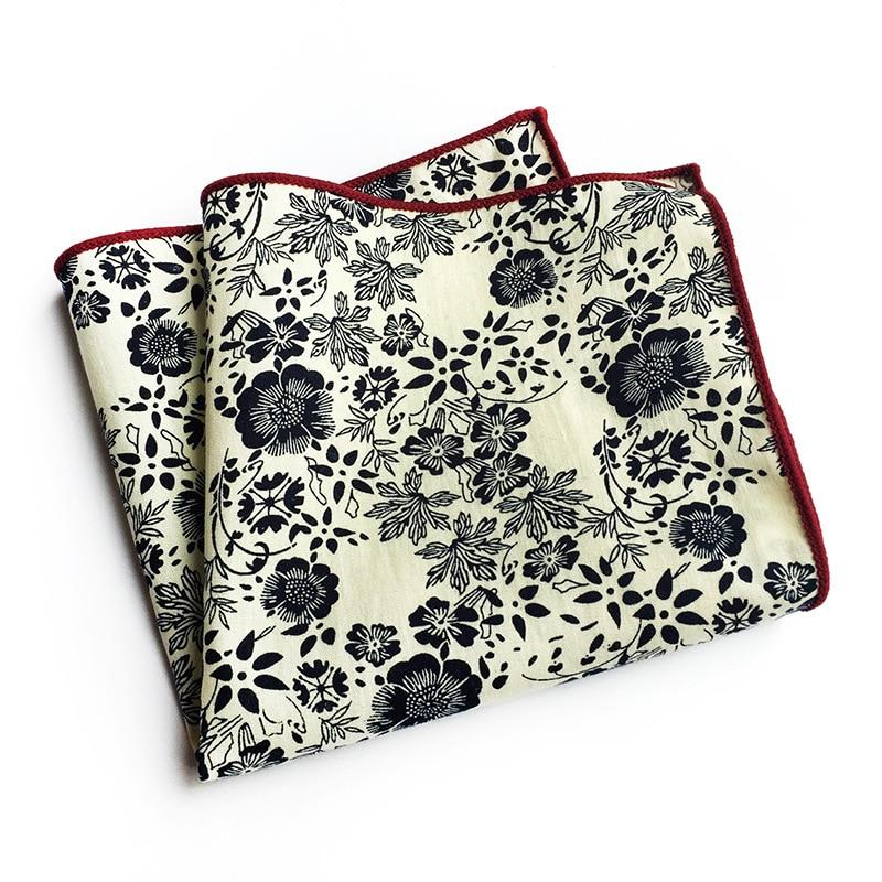 Exclusive Design Fashion Men Women Explosion Paisley Printed Cotton Pocket Towel Business Suit Casual Accessories Square Scarf