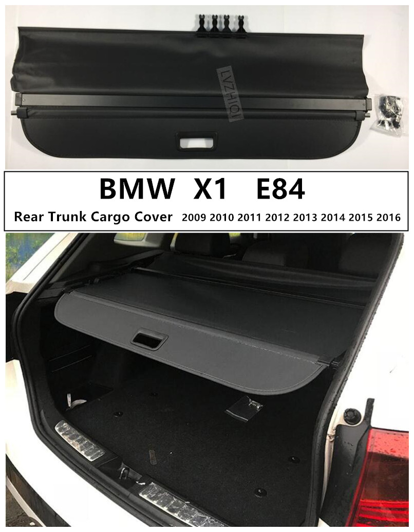 Rear Trunk Cargo Cover For BMW X1 E84 2009 2010 2011 2012 2013 2014 2015 2016 High Qualit Security Shield Auto Accessories