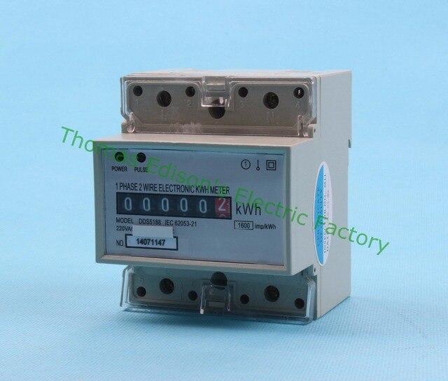 Din rail single phase KWH meter energy meter analog WATT hour meter ...