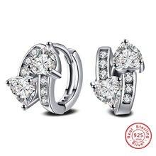 521a862d10ee Plata de Ley 925-de plata-joyería de lujo pendientes del perno prisionero  de cristal para la joyería de las mujeres ed10 brincos.