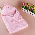 Hot 2015 Animal Head Sleeping Bags Unisex Baby Coral Fleece Blankets Envelope For Newborn Sleepsack&Sleeping Bag Baby Parisarc