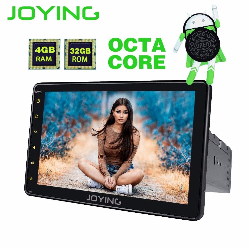 JOYING Android 8.0 1din PX5 4 gb di RAM Octa core autoradio GPS car stereo Android 8 ''Schermo di Tocco di HD nastro di sostegno del registratore Carplay