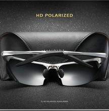 2019 nuevas Gafas De Sol polarizadas lente UV400 marco De aluminio Gafas De conducción para hombres conductor Gafas De Sol al aire libre