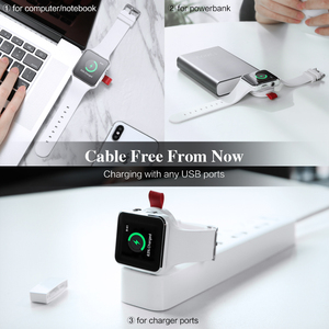 Image 2 - FLOVEME Wireless Charger for Apple Watch 4 Charger Magnetic Wireless Charging USB Charger for Apple Watch 4 3 2 1 Portable