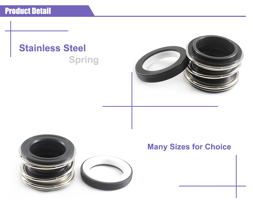 Mechanical Parts Extension Compression Spring 1pc 108 Mechanical Seal 108-8//10//12//14//16//20//30//40//50 Mechanical Seal for Water Pump Bellow Water Pumps Mechanical Shaft Seal Size : 108 18