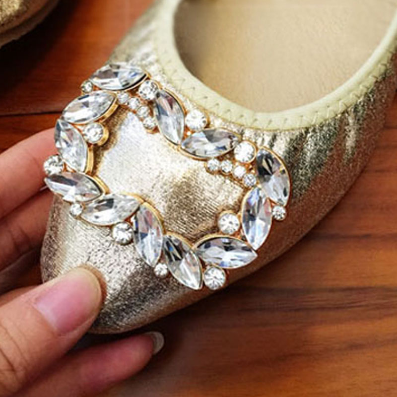 4282c412f BSAID Rhinestone Shoe Decorations Shoe Charms Clips Accessories For Women Shoes  Sandals Bag Clothes Decorative Crystal Ornaments-in Shoe Decorations from  ...