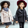 Children's Winter Jackets and Coats Single Button Elegant Warm Baby Girls Woolen Coat 2016 New Thicken Two Colors Clothing