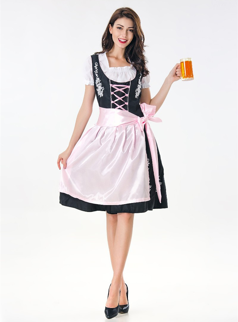 Deluxe Adult Beer Girl Dress Beer Maid Costume Bavarian Oktoberfest Festival Costume Fantasia Cosplay Germany Wench Dirndl Dres