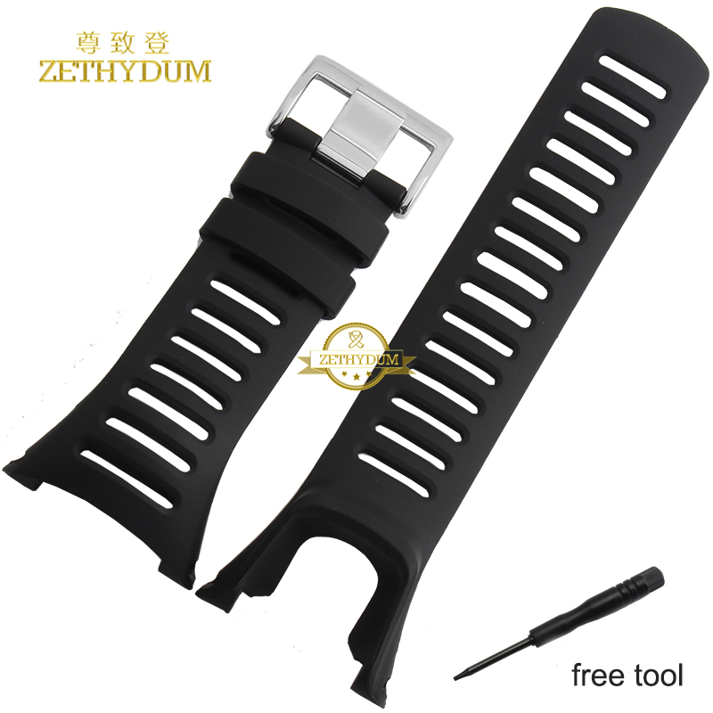 Smart watche band watch band 36mm Rubber strap Silicone wristband bracelet  for SUUNTO CORE AMBIT wristwatches belt  Free tools hot sale for suunto observe x6hrm rubber watch band strap black waterproof free shipping