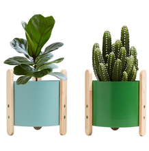 Popular Simple Personality Color Flower Pot Hot Selling Home and Garden Decor Accessories Mini Iron Succulent Plant Pots LFB625