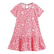 2019 summer  baby girls dress printing casual kids clothes clothing Loose cute cotton Princess solid