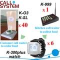 Sistema de chamada de garçom serviço de chamada 1 teclado 6 pulso pager 40 bezzer base de alarme com munu