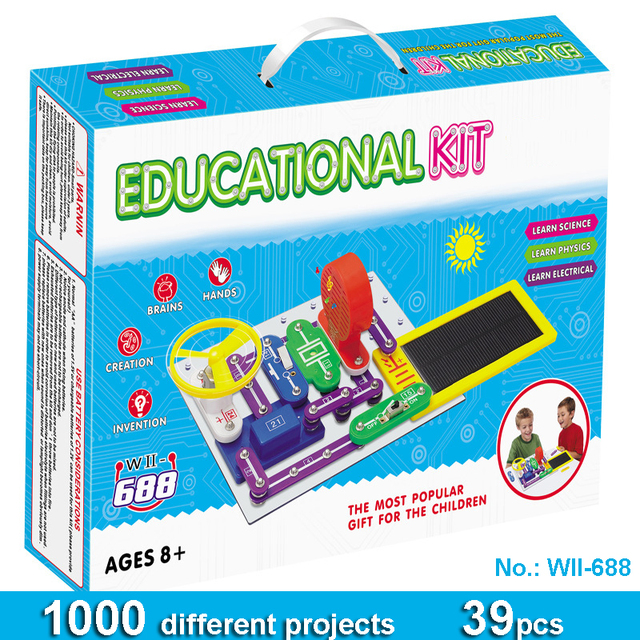 circuits smart electronic block kit integrated circuit buildingcircuits smart electronic block kit integrated circuit building blocks experiments learning science kids toy wii688