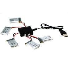 RC Drone Pièces De Rechange 5X3.7 V 750 mAh Batterie + Équilibre chargeur/Câble Ensemble Accessoire Pour MJX X705C Syma X5C X5SW Multicopter