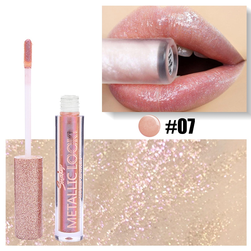 8 Colors Moisturizing Shimmer Lip Glaze Waterproof Non-stick Cup Easy To Color Glitter Gloss
