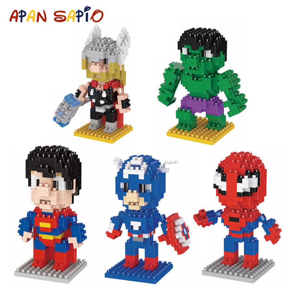 מיני בניין בלוקים לבני צעצועי סופר גיבור נוקמי סוף המשחק דגם חינוכיים בלוקים צעצועים לילדים תואם LegoeING