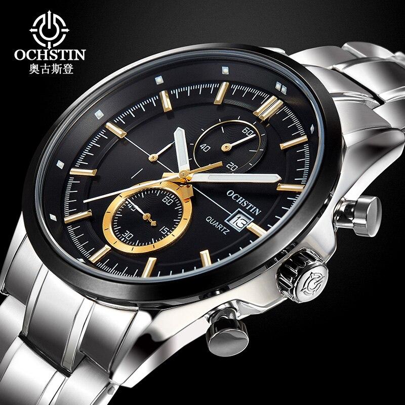 ФОТО Luxury Watch Men Full Steel Sport Watch Water Resistant Quartz Wristwatch Brand Ochstin Business Watch Men Relogio Masculino