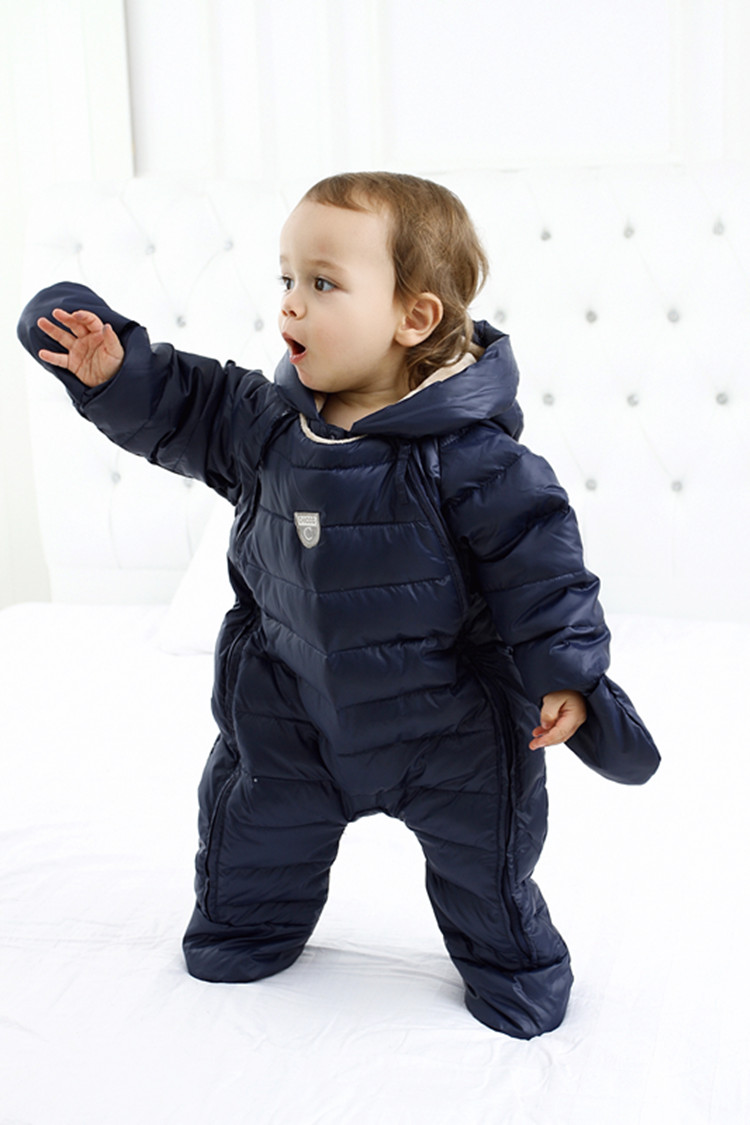 Hooded Children winter jumpsuit Fleece baby winter romper kids winter overalls warm boys snowsuit down baby jumpsuit long sleeve 2017 winter overalls warm hooded romper for newborns baby children jumpsuit outerwear sport coats infant child snowsuit 0 3t