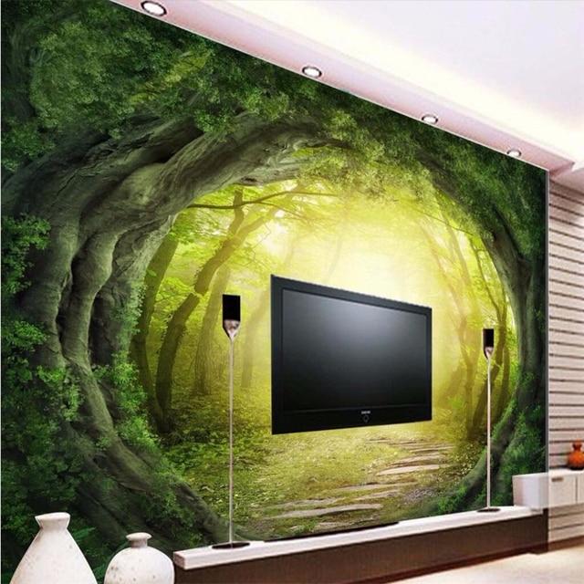 beibehang custom photo wallpaper 3d Fantasy Art World roots forest ...
