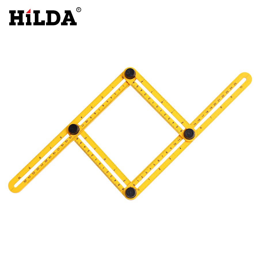 HILDA Multi Function Angle Izer Ultimate Tile Four Sided Ruler Flooring Working Template font b Measuring