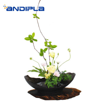 Japanese Style Ceramic Flower Pot with Needles Flower Arrangement Vase Table Vases / Flower Ceremony Bonsai Decoration Crafts