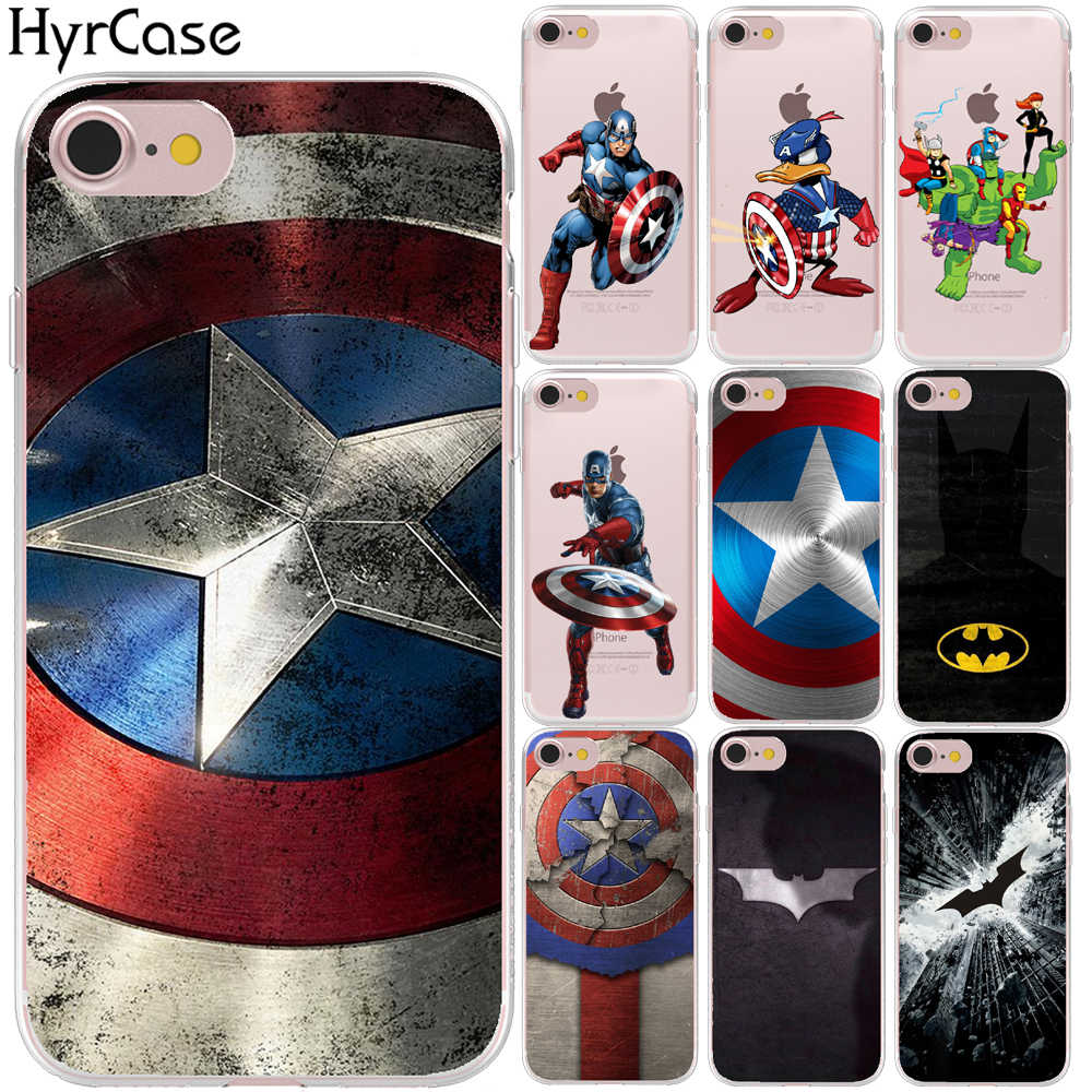 Marvel Hero Captain America Soft TPU Silicon Phone Case Cover Voor iPhone XR XS 11 Pro Max 8 7 6 6S Plus 5 5S SE X 10