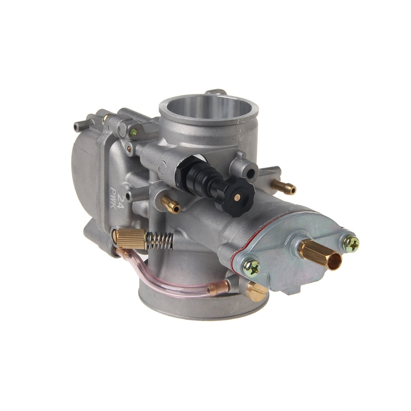 Free shipping Universal Motorcycle 24mm Carburetor For Keihin Carb PWK Mikuni With Power Jet