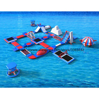 Professional giant inflatable Aqua Adventure Epic Waterpark inflatable floating water park for commercial rental