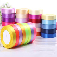 22 Meters Roll 20mm Single Face Satin Ribbon Webbing Straps Packing Tape For Gift Wedding Party