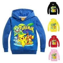 primavera otoo nios nios nias patrn pikachu costume pokemon ir hoodie sudadera pullover disfraces de halloween