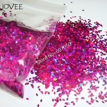 Laser Holographic Purple-red Color 2MM Diamond rhombus Glitter Paillette Spangles Shape for DIY Nail Art Decoration