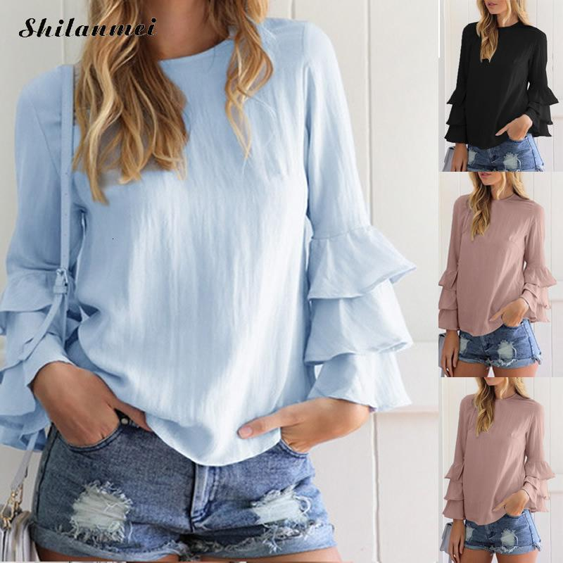 Women Vintage Blouse Wench Cold Shoulder Flare Sleeve Lace