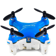 Pocket Mini RC Quadcopter with LED Light Headless Mode 6-axis Gyro Drones 2.4GHz 3D Rollover Double Control Mode RC Helicopter
