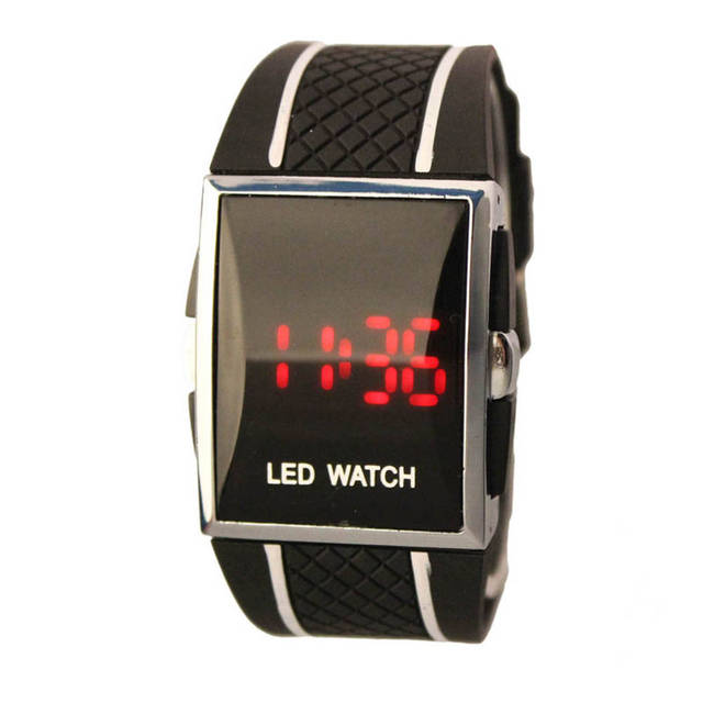 Digital watches New Arrivals Silicone Strap Boy Men Stylish LED Date Silicone Band Sports Wrist Watch