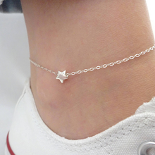 Summer Dainty Star anklet, Foot Jewelry, Beach wedding jewelry, silver star anklet, Bridesmaid gifts JK003