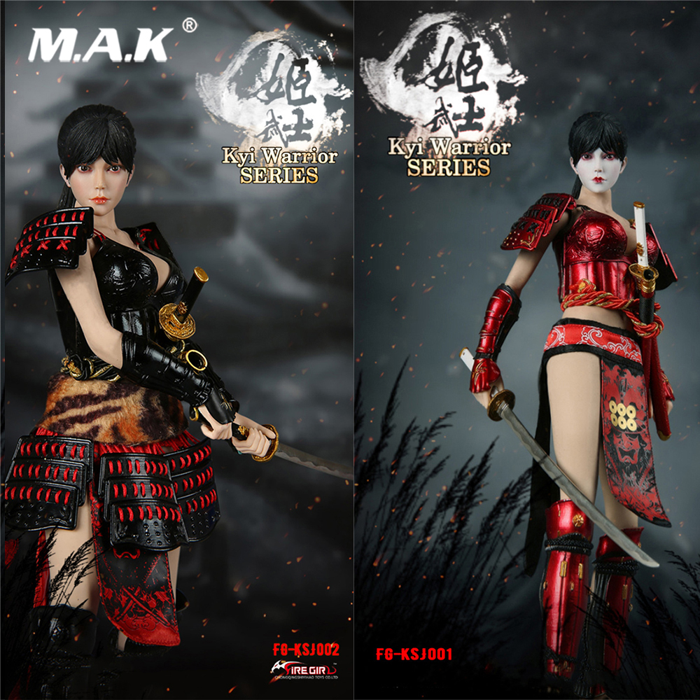 """31:6th White+Red Japanese Female Sword Uniforms Clothes F12/"""" PH Women Body Doll"""