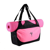 Yoga Mat Bag Waterproof Backpack Shoulder Messenger Sport Bag For Women Fitness Duffel Clothes Gym Bag