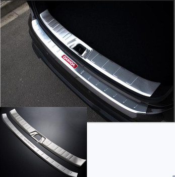 high quality Stainless Steel Rear Bumper Protector Sill Trunk Tread Plate Trim Car Styling For Nissan Qashqai J11 2014 2015 2017